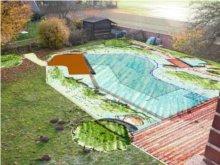 Garten mit Planzeichnung